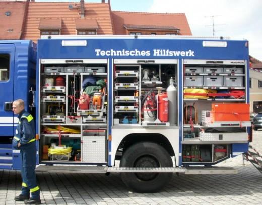 THW-Fahrzeug