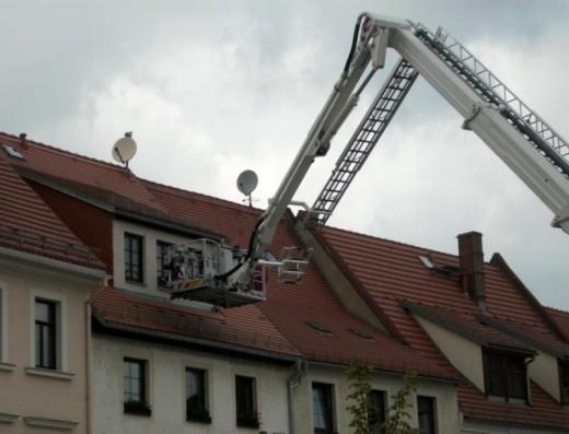 Hubsteiger im Einsatz