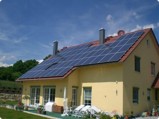 Beispiel: Photovoltaik auf dem Dach des Eigenheims