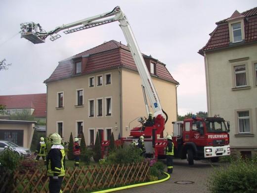 Brand auf der Dr.-Friedrichs-Str.
