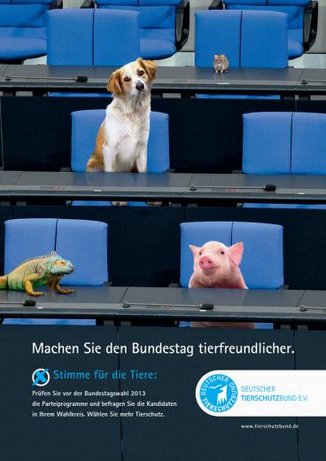 Bundestagswahl 2013 - Tierschutzplakat