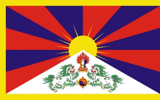 Flagge von Tibet