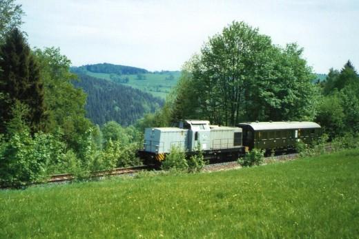 Mueglitztalbahn, eine der letzten Fahrten des Altenberger Wagens