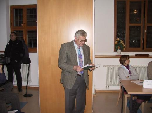 Herr Gotthard Winter nutzte die letzte Gelegenheit für eine eindringliche Ansprache an die Stadträte