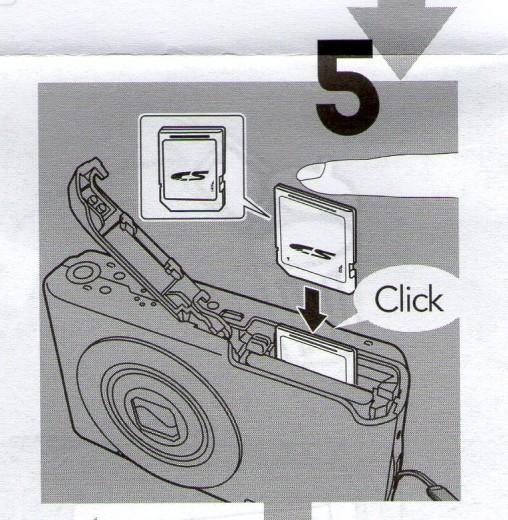 5. Speicherchip einlegen