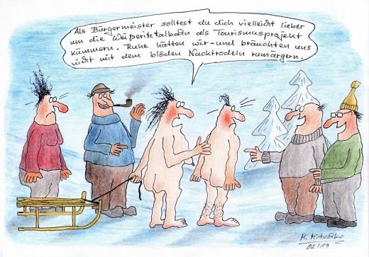 Nacktrodeln (Karikaturen © Mirko Mitschke, Lizenz: CC by-nc-nd )