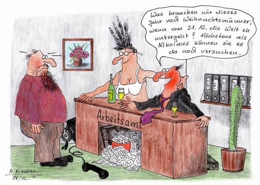 Dieses Jahr keine Weihnachtmänner mehr (Karikatur: Mirko-Mitschke, Lizenz: CC BY-NC-ND 3.0)