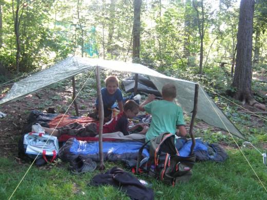 Nomadencamp (Foto: Kinderschutzbund Region Weißeritz)