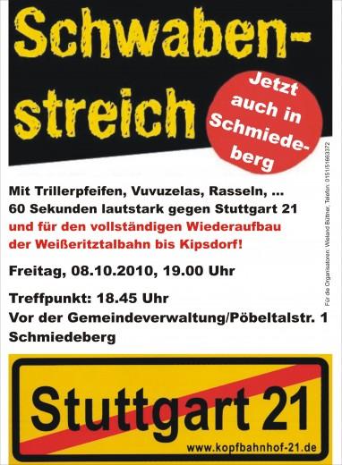 Schwabenstreich in Schmiedeberg