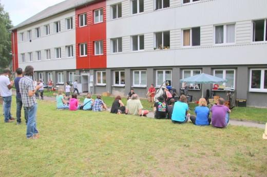 Sommerfest im Asylheim Schmiedeberg, Foto: Holger Becker