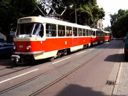 Ein Tatra-Zug in Halle