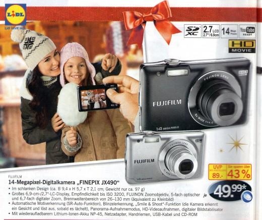 (mangelhafte) Werbung für die Kamera