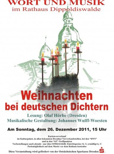 Wort und Musik, Plakat für den 26.12.2011