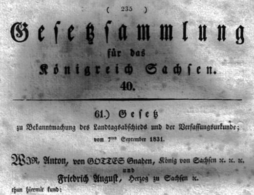 Gesetzsammlung Sachsen