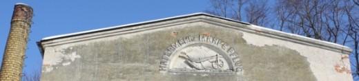 Giebel Hafermühle mit Marke Pflug