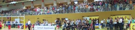 Beim Volleyball Länderspiel der Damen-Nationalmannschaften Deutschland ./. Dominikanische Republik im Dippser Sportpark am 31. Juli 2010 (Foto: Harald Weber)