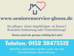 Werbeschriftzug Seniorenservice Gloess