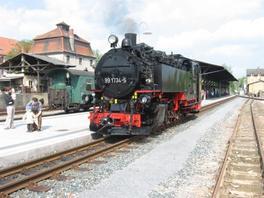 Auf dem Dippser Bahnhof (Foto: Armin Donath)